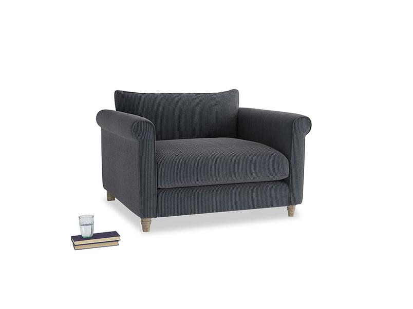 Weekender Love seat in Scandi grey Clever Cord