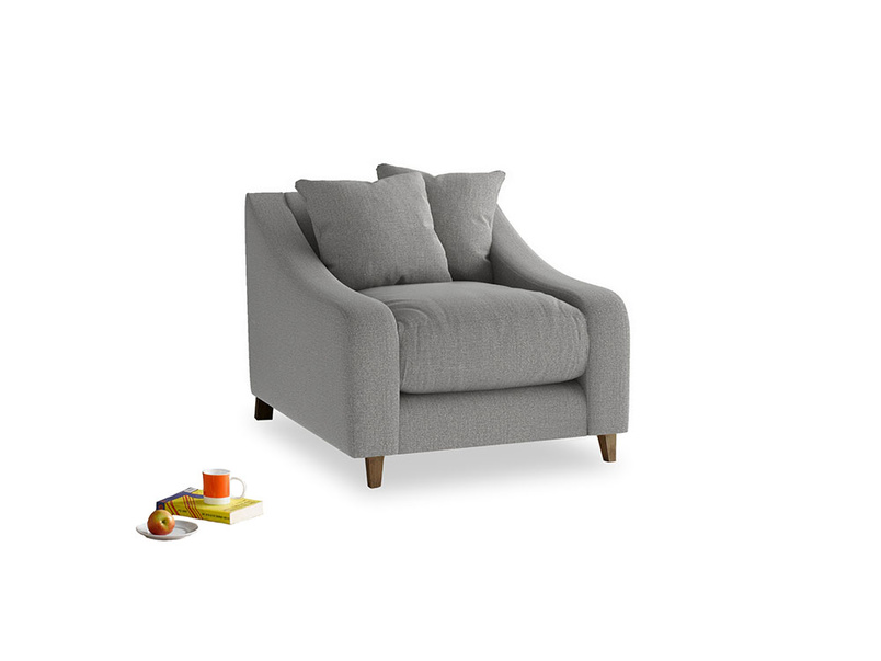 Oscar Armchair in Cloudburst Bamboo Softie