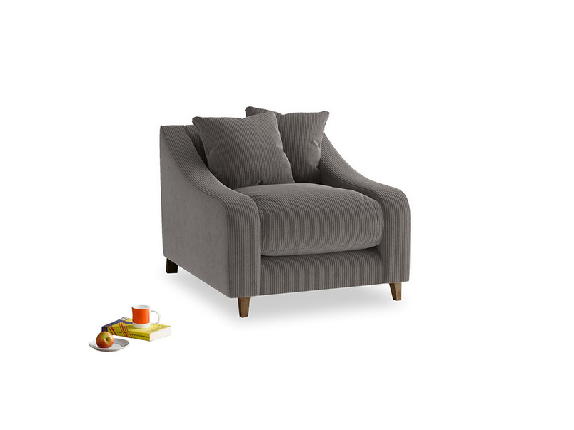 Oscar Armchair in Everyday Grey Clever Cord