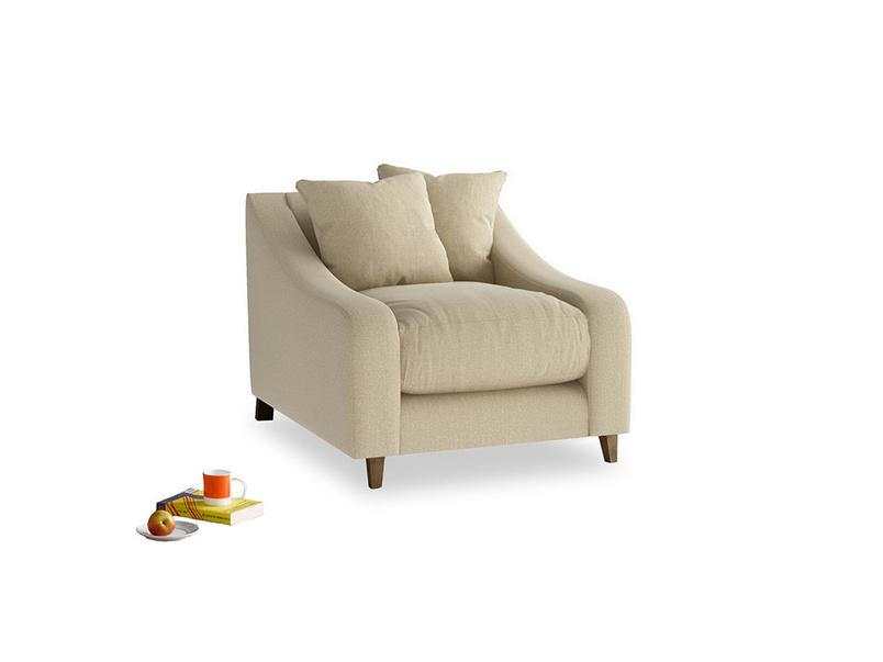 Oscar Armchair in Hopsack Bamboo Softie