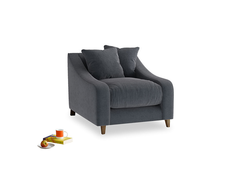 Oscar Armchair in Scandi grey Clever Cord