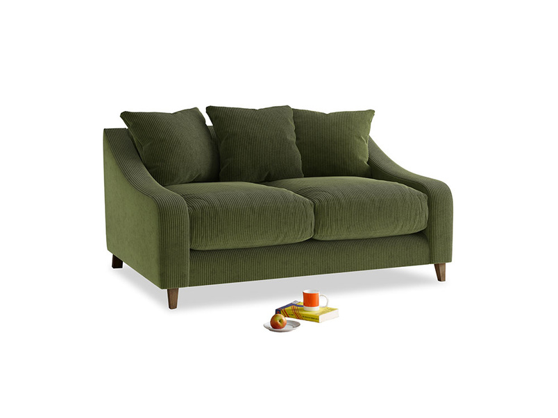 Small Oscar Sofa in Leafy Green Clever Cord