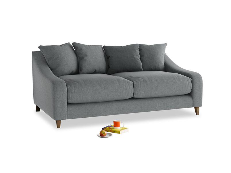 Medium Oscar Sofa in Cornish Grey Bamboo Softie