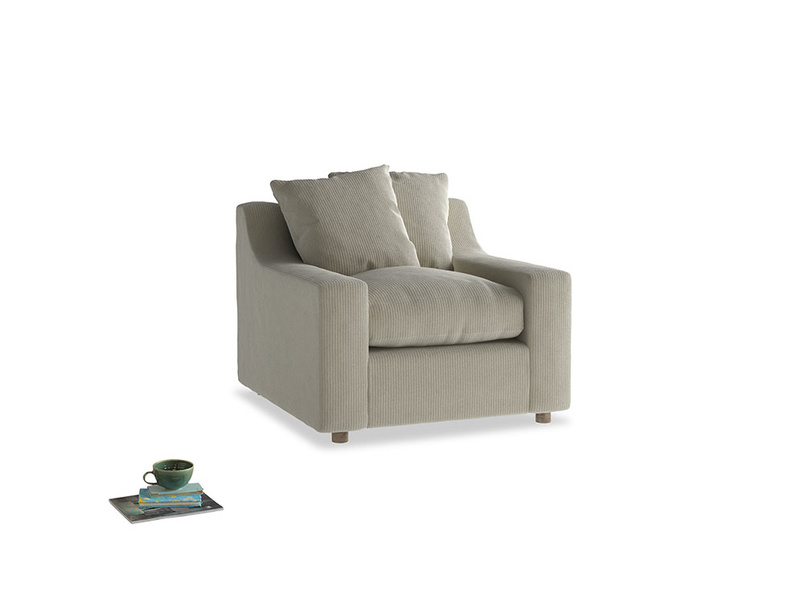 Cloud Armchair in Blighty Grey Clever Cord