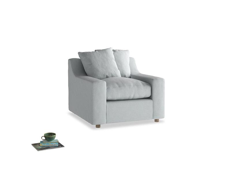 Cloud Armchair in Gull Grey Bamboo Softie