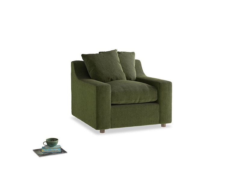 Cloud Armchair in Leafy Green Clever Cord