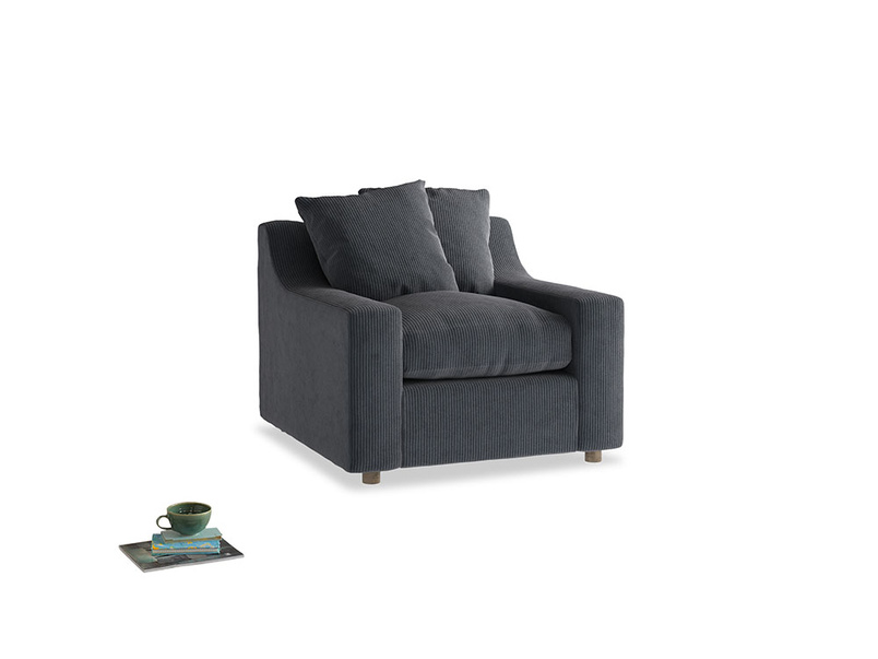 Cloud Armchair in Scandi grey Clever Cord