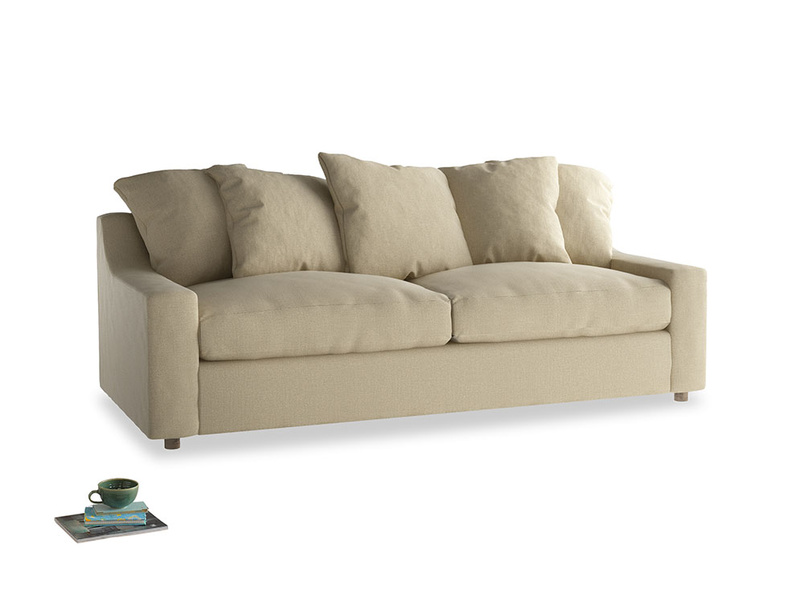 Large Cloud Sofa in Hopsack Bamboo Softie