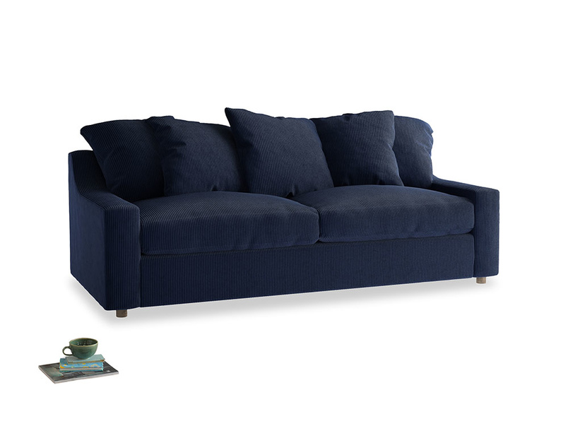 Large Cloud Sofa in Indian Blue Clever Cord