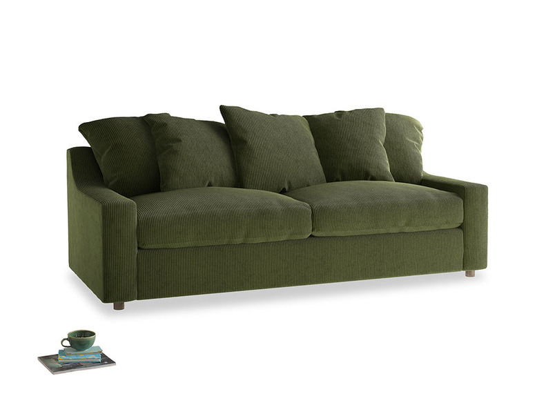 Large Cloud Sofa in Leafy Green Clever Cord