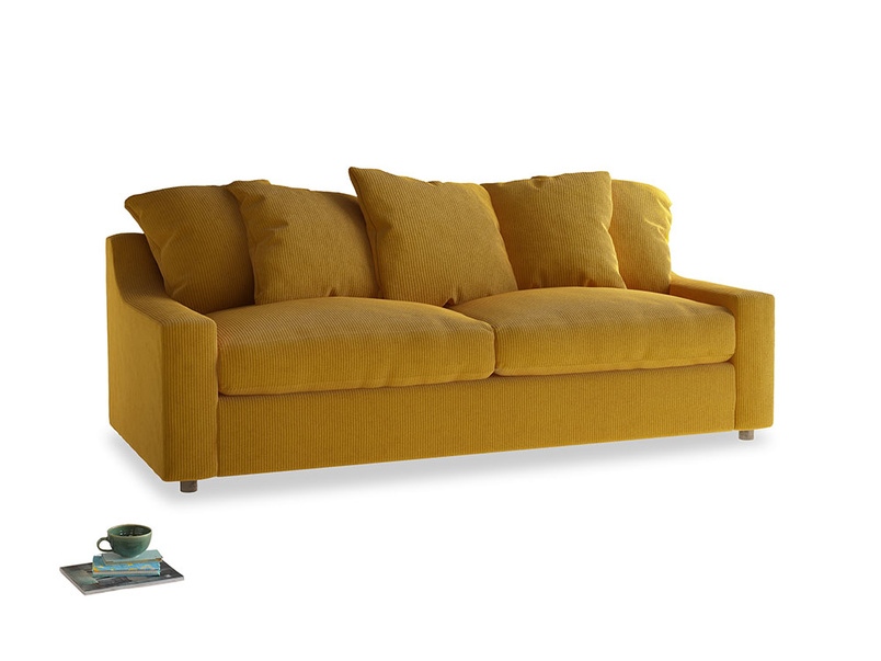 Large Cloud Sofa in Saffron Yellow Clever Cord