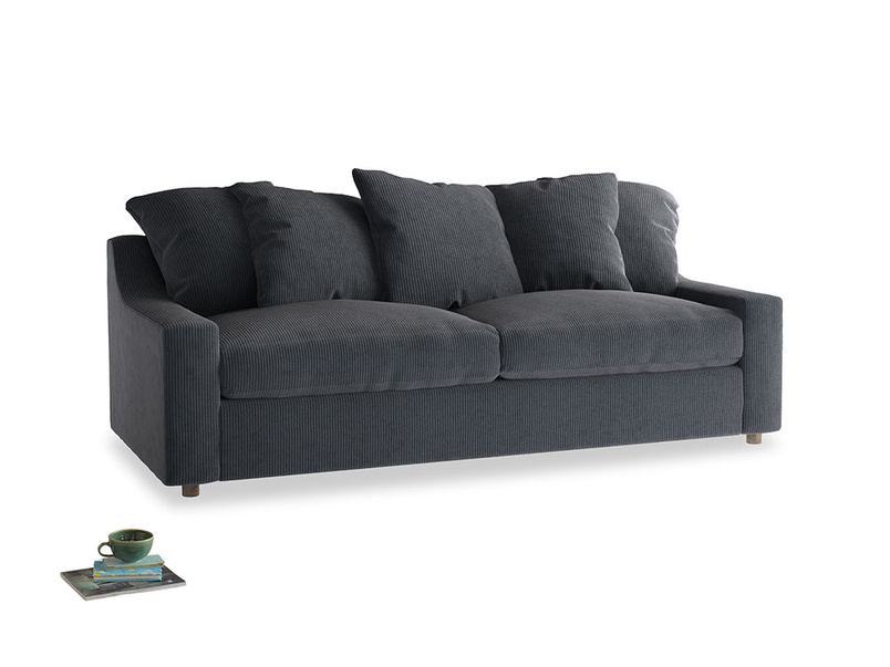Large Cloud Sofa in Scandi grey Clever Cord