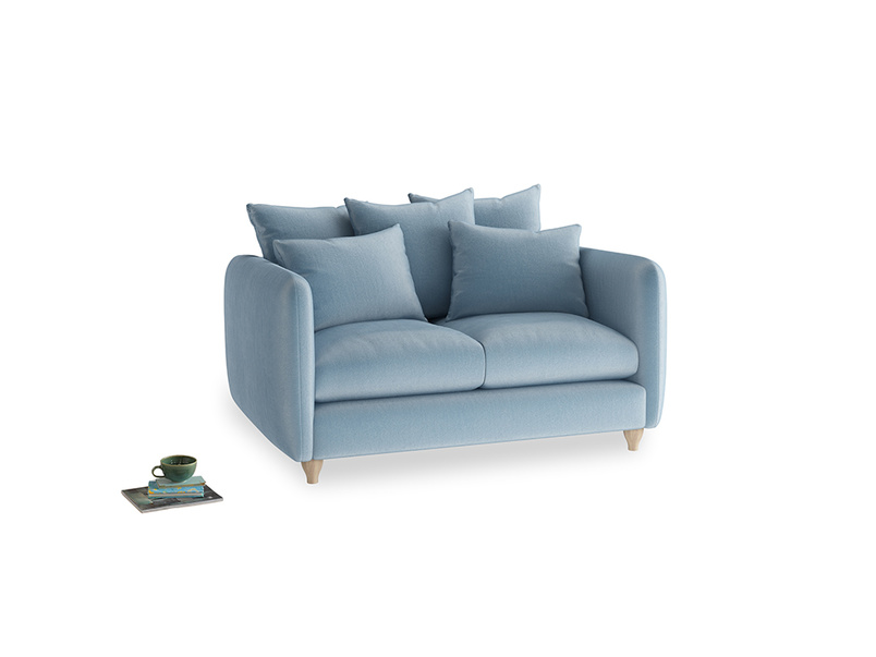 Small Podge Sofa in Chalky blue vintage velvet