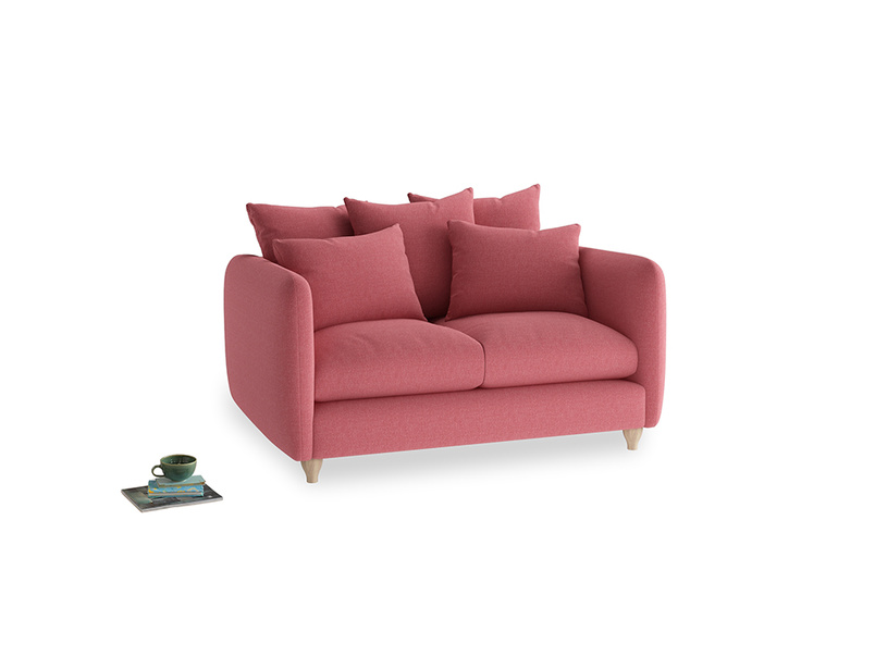 Small Podge Sofa in Raspberry brushed cotton