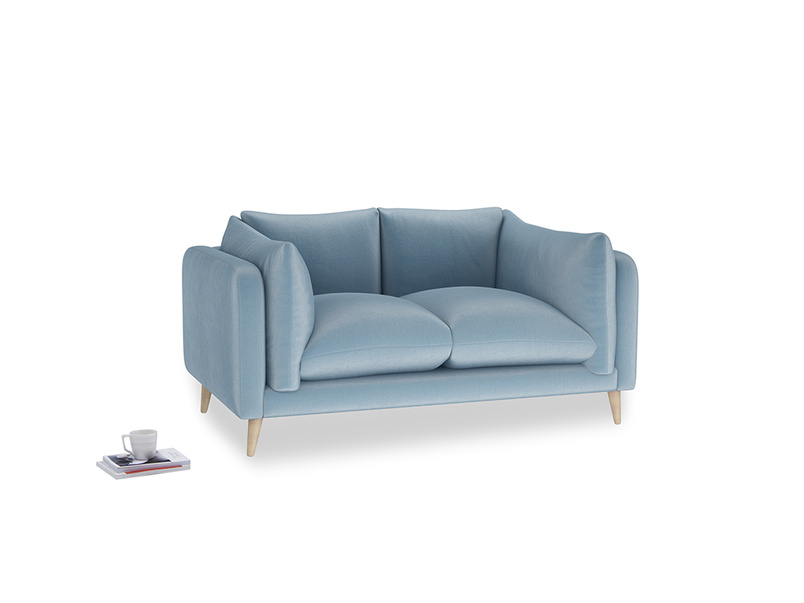 Small Slow-Mo Sofa in Chalky blue vintage velvet