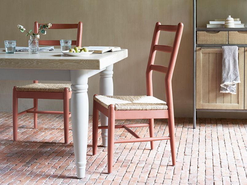 Hobnob rust rush weave kitchen chair