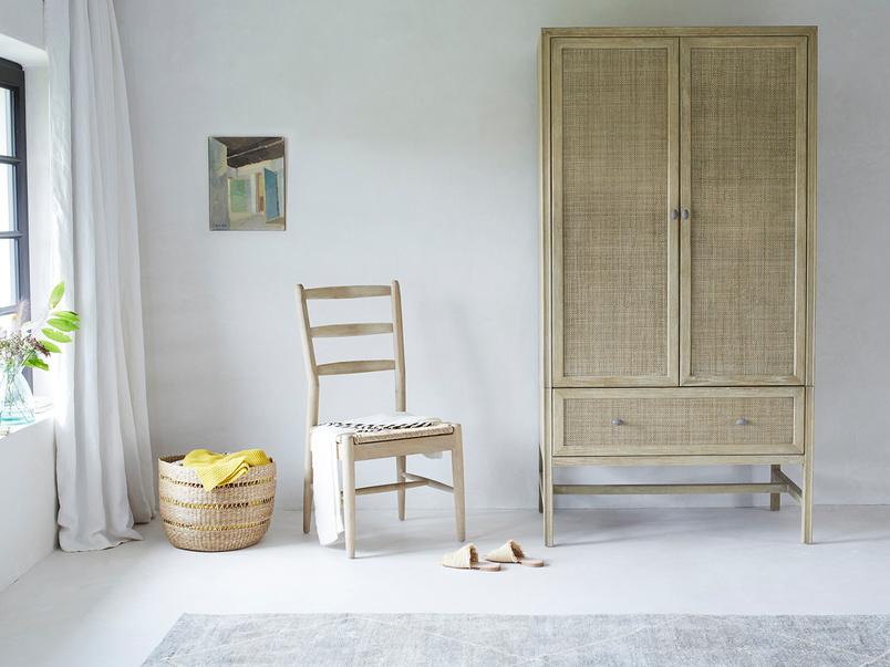 Willow rattan 2 door wardrobe