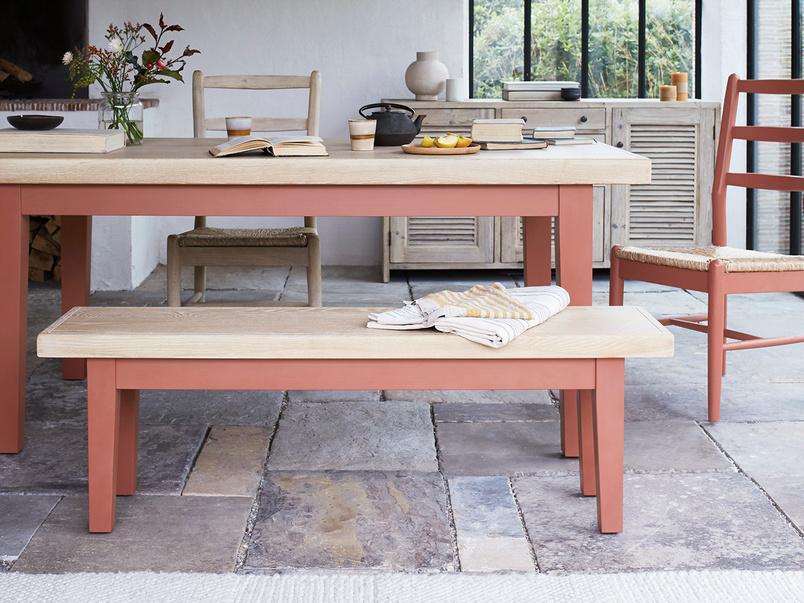 Plonk Earthy Red oak dining bench