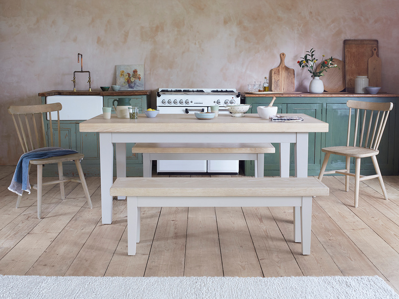 Pantry kitchen table in pale grey