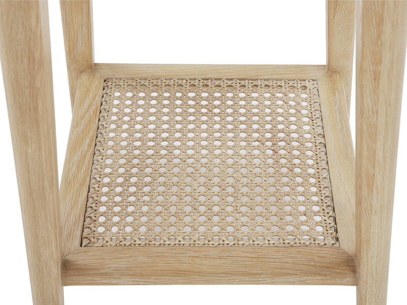 Agatha handmade bedside table rattan detail