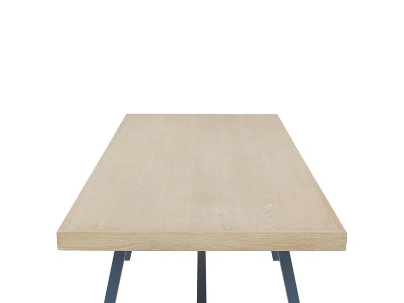 Trestle Kitchen Table in Blue Oak Top View