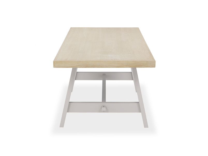 Trestle Dining Table in Grey
