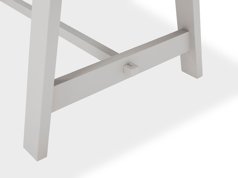 Trestle Kitchen Table in Grey Base Detail