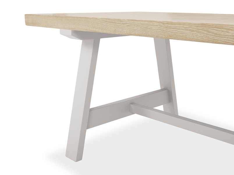 Trestle Kitchen Table in Grey Edge Detail
