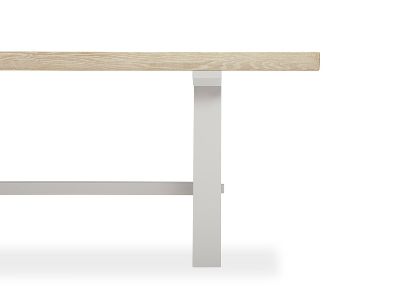 Trestle Kitchen Table in Grey Leg Detail