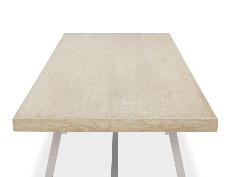 Trestle Kitchen Table in Grey Top Detail
