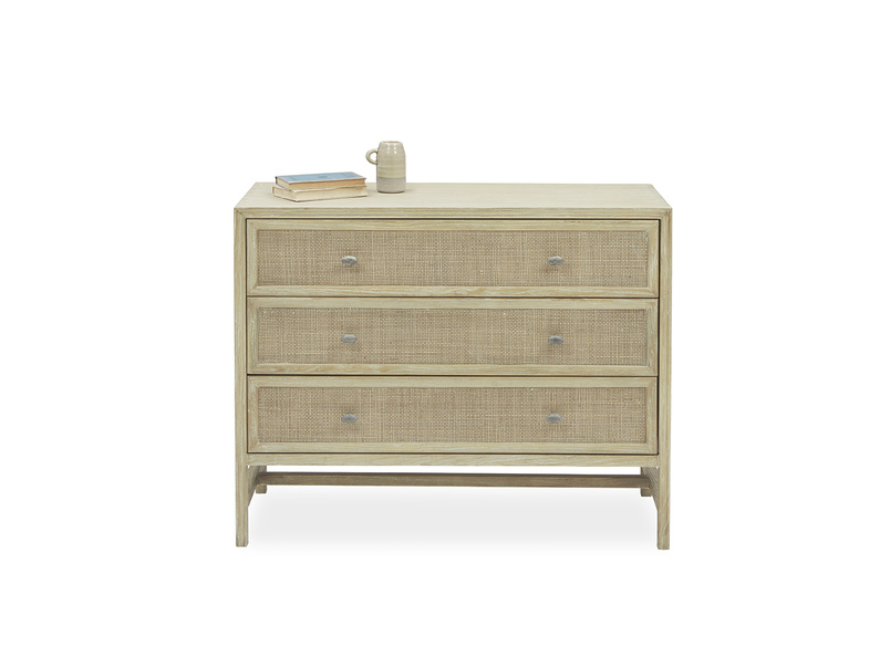 Willow Chest of Drawers with Natural Rattan