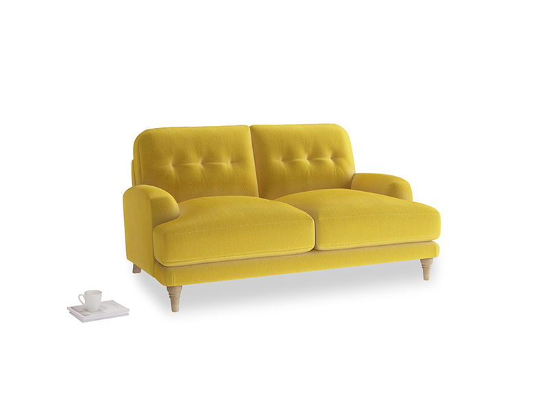 Small Sugar Bum Sofa in Bumblebee clever velvet
