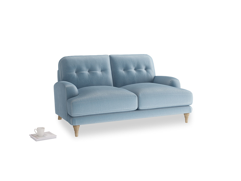 Small Sugar Bum Sofa in Chalky blue vintage velvet