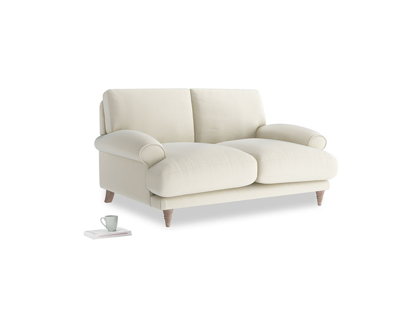 Small Slowcoach Sofa in Alabaster Bamboo Softie