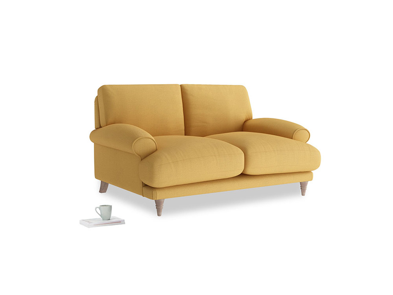 Small Slowcoach Sofa in Dorset Yellow Clever Linen
