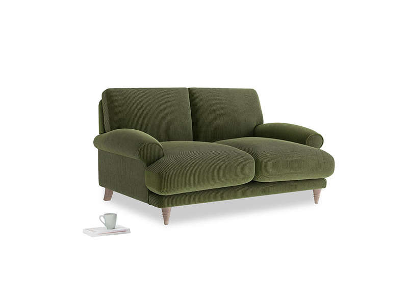 Small Slowcoach Sofa in Leafy Green Clever Cord