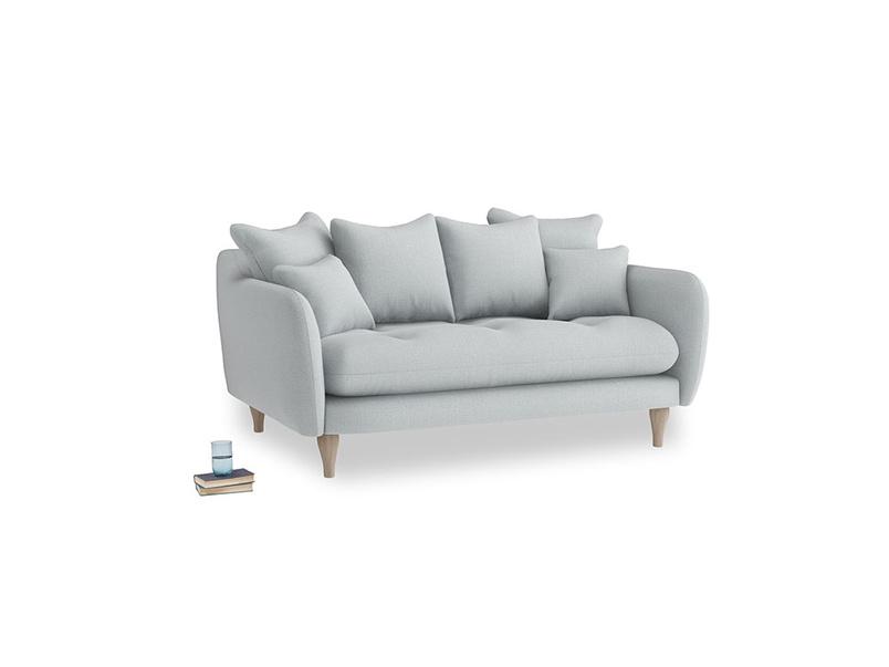 Small Skinny Minny Sofa in Gull Grey Bamboo Softie