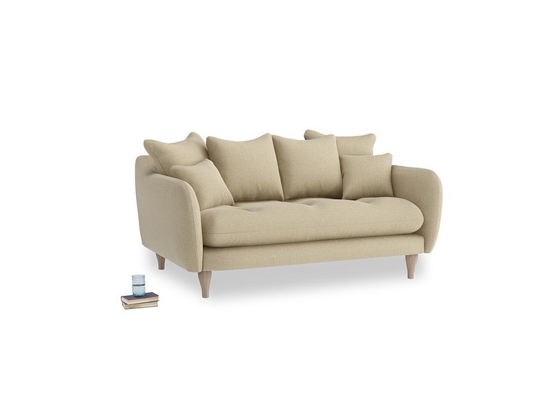 Small Skinny Minny Sofa in Hopsack Bamboo Softie
