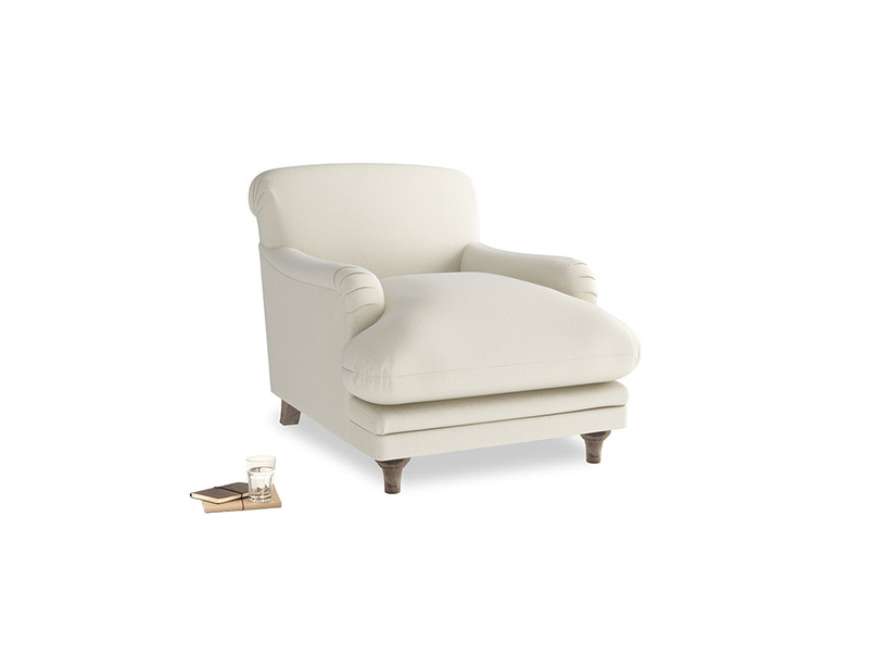 Pudding Armchair in Alabaster Bamboo Softie