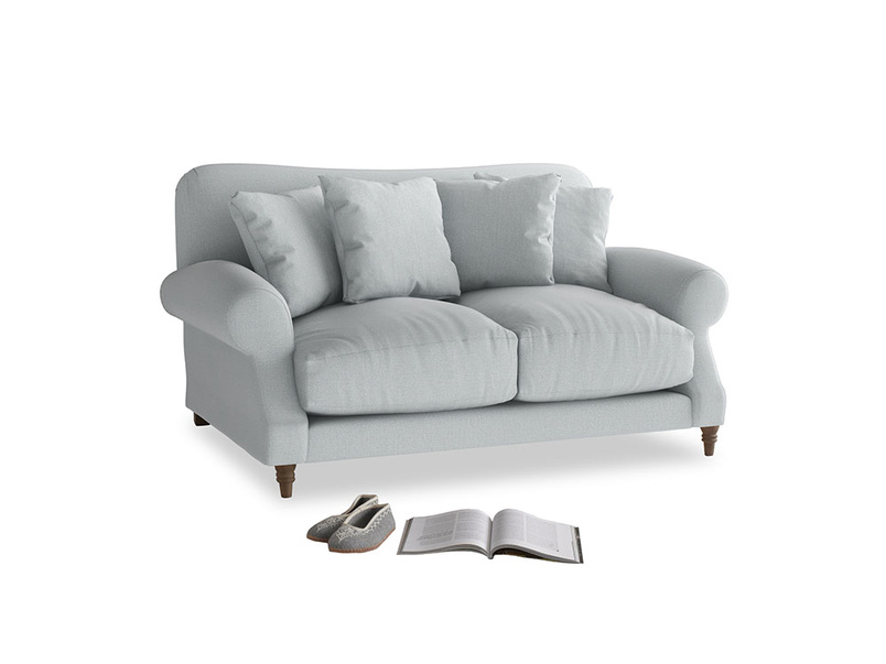 Small Crumpet Sofa in Gull Grey Bamboo Softie