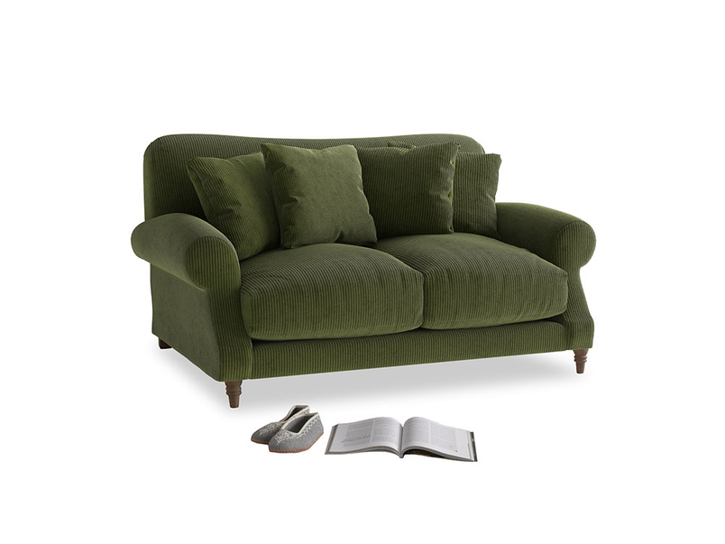 Small Crumpet Sofa in Leafy Green Clever Cord