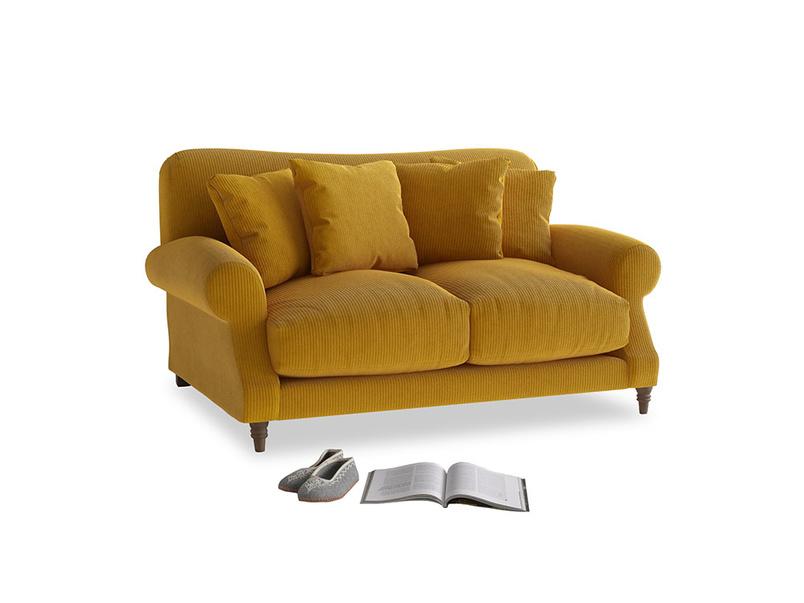 Small Crumpet Sofa in Saffron Yellow Clever Cord