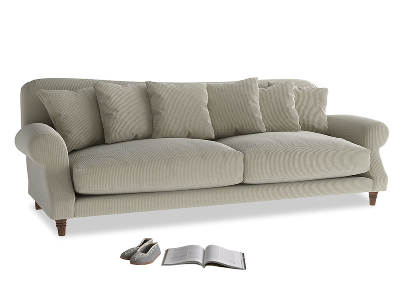 Extra large Crumpet Sofa in Blighty Grey Clever Cord