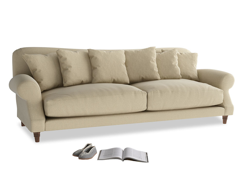 Extra large Crumpet Sofa in Hopsack Bamboo Softie