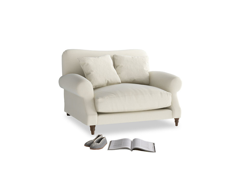 Crumpet Love seat in Alabaster Bamboo Softie