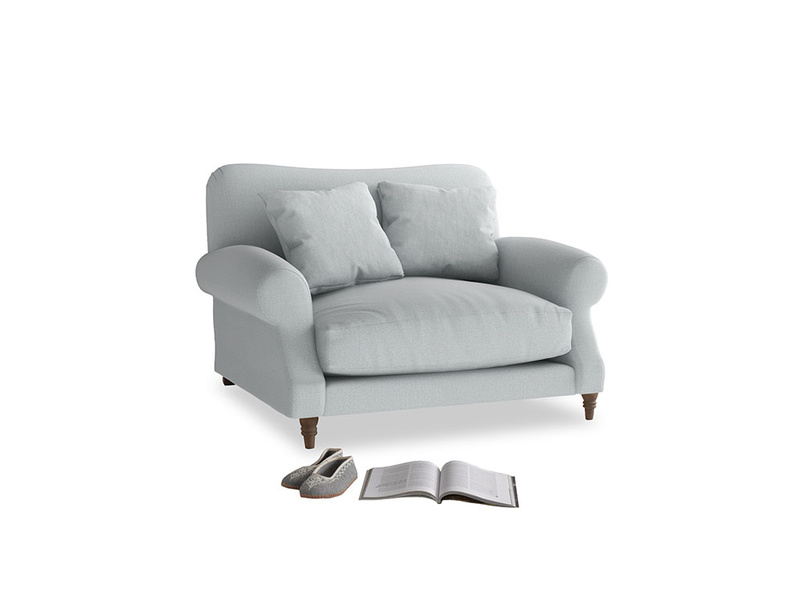 Crumpet Love seat in Gull Grey Bamboo Softie