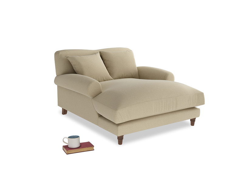 Crumpet Love Seat Chaise in Hopsack Bamboo Softie