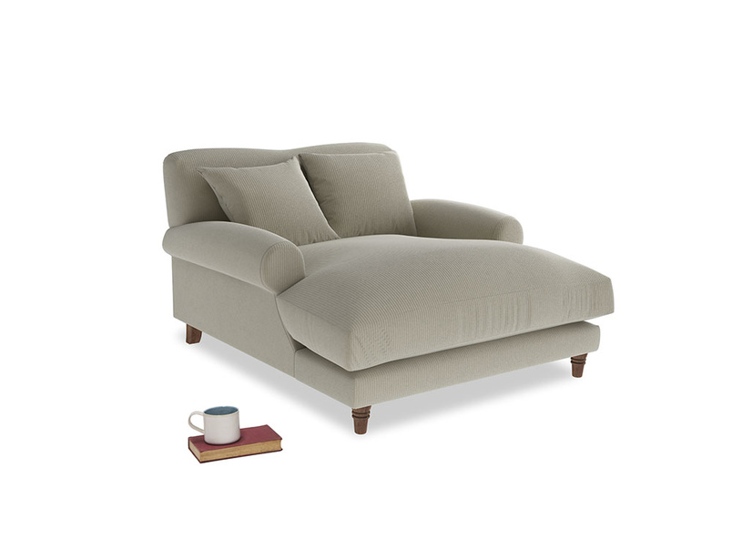 Crumpet Love Seat Chaise in Blighty Grey Clever Cord