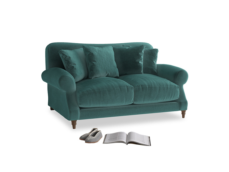 Small Crumpet Sofa in Real Teal clever velvet