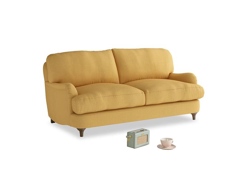 Small Jonesy Sofa in Dorset Yellow Clever Linen